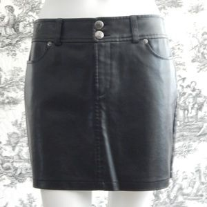 Express Faux Leather Mini Skirt Size 3/4